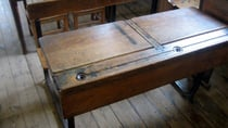 Aussies would remember the old school desks with an inkwell during their schooling days. Source: Facebook/ Adelaide Remember When