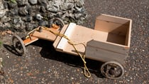 Building a billy cart from bits found at the dump was a fun experience for kids in the 1950s and '60s. Source: Getty