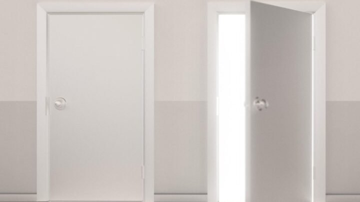 Which door would you head through when it comes to investing extra cash? Source: Getty.
