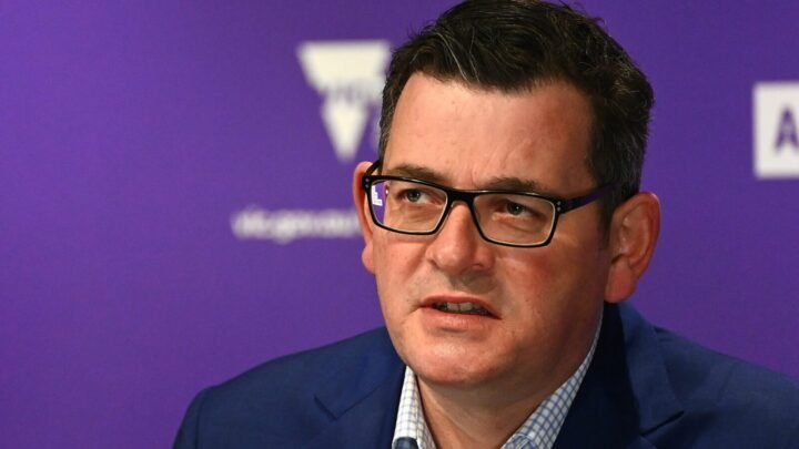 Premier Daniel Andrews confirmed the state's daily case increase on Wednesday afternoon.  Source: Getty.