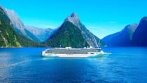 You could travel on board the Norwegian Spirit to Milford Sound in New Zealand.