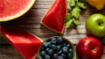 Watermelon and blueberries are more than just a refreshing summer snack. Source: Getty.