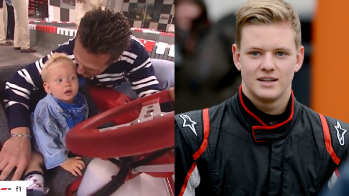 Mick Schumacher has shared a touching video from his youth with his father Michael. Source:  Mick Schumacher - Instagram/Getty.