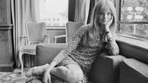English model Jean Shrimpton, in 1966, displaying a rather scandalous amount of leg. Source: Getty