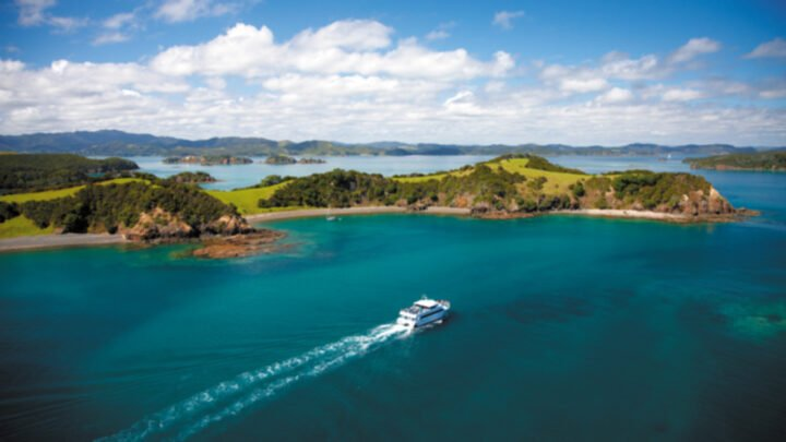 Explore the scenic beauty of the Bay of Islands aboard a luxury catamaran on an incredible solo adventure. Source: Supplied