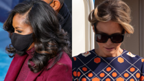 Both former first ladies looked incredible in their '70s-style outfits. Source: Getty.
