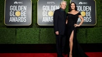 Michael Douglas and Catherine Zeta Jones both presented at the Golden Globes from New York City. Source: Getty