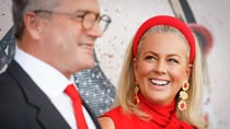 Samantha Armytage and her now-husband Richard Lavender at Golden Eagle Day in Sydney, October 2020. Source: Getty