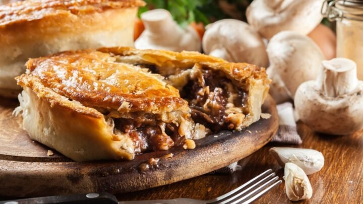 Mmm! Beef and mushroom pie for dinner. Source: Getty Images
