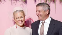 Samantha Armytage and husband Richard Lavender at Chandon Ladies Day at Rosehill Gardens Racecourse, earlier this year. Source: Getty
