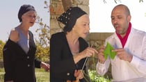 Helen Mirren and Checco Zalone star in a new video promoting Covid-19 jabs. Source: Youtube/Checco Zalone Official