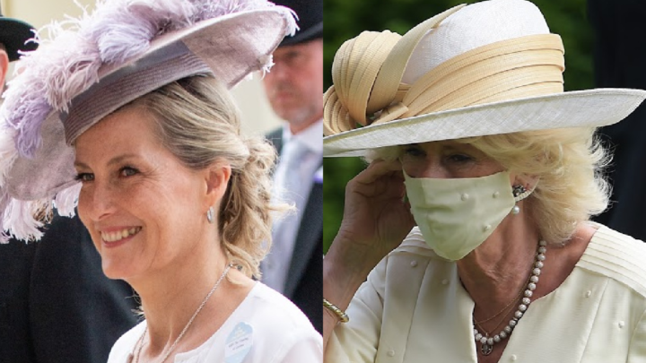 Sophie, Countess of Wessex and Camilla, Duchess of Cornwall pictured on day two of the Royal Ascot. Source: Getty