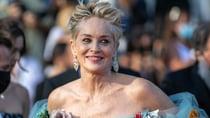 Sharon Stone stole the show in a stunning Dolce & Gabbana blue tulle dress at the Cannes Film Festival on Wednesday. Source: Getty