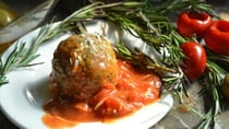 The blend of tomato and garlic with the juices from the meatloaf is unbelievably tasty. Source: Getty Images