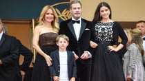 John Travolta and Kelly Preston with their children Ella and Benjamin in May 2018. Source: Getty