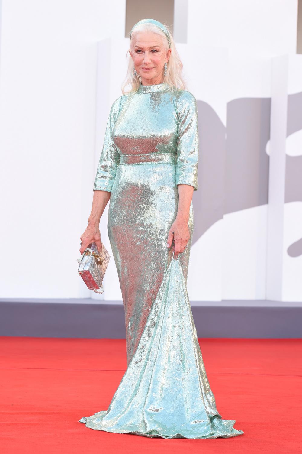 Helen Mirren wore a stunning Dolce and Gabbana gown at the Venice International Film Festival.