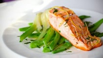 This salmon with green beans and fennel is simply delicious! Source: Getty Images