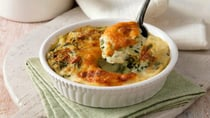 This spinach gratin is a delicious meat-free meal for the week. Source: Getty Images